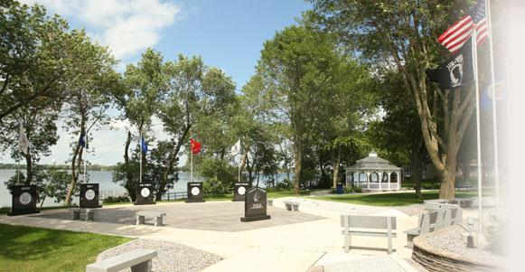 Freedom Veterans Memorial Park on Lake Okabena