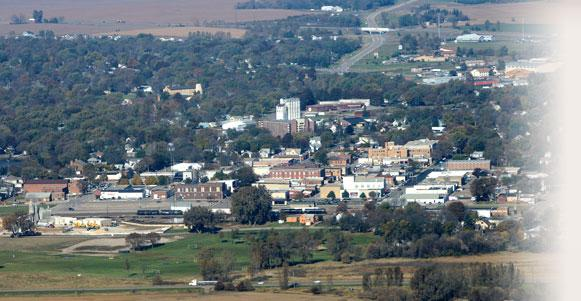 Aerial photo of Worthington, Minnesota